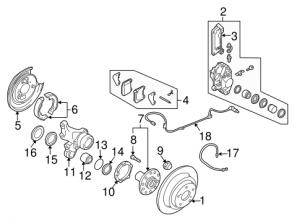 2005 Saab 9-2x Brake Components