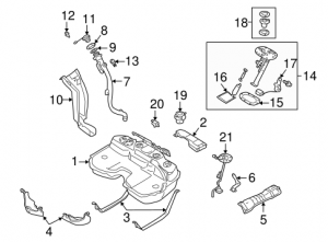 2005 Saab 9-2X Fuel System Components