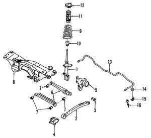 2005 Saab 9-2X Rear Suspension